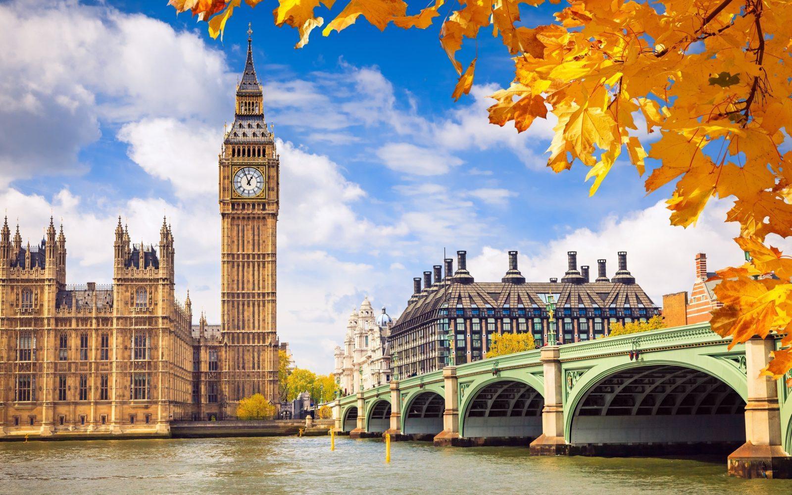 autumn britain england great london palace westminster - ავიაბილეთები ლონდონი