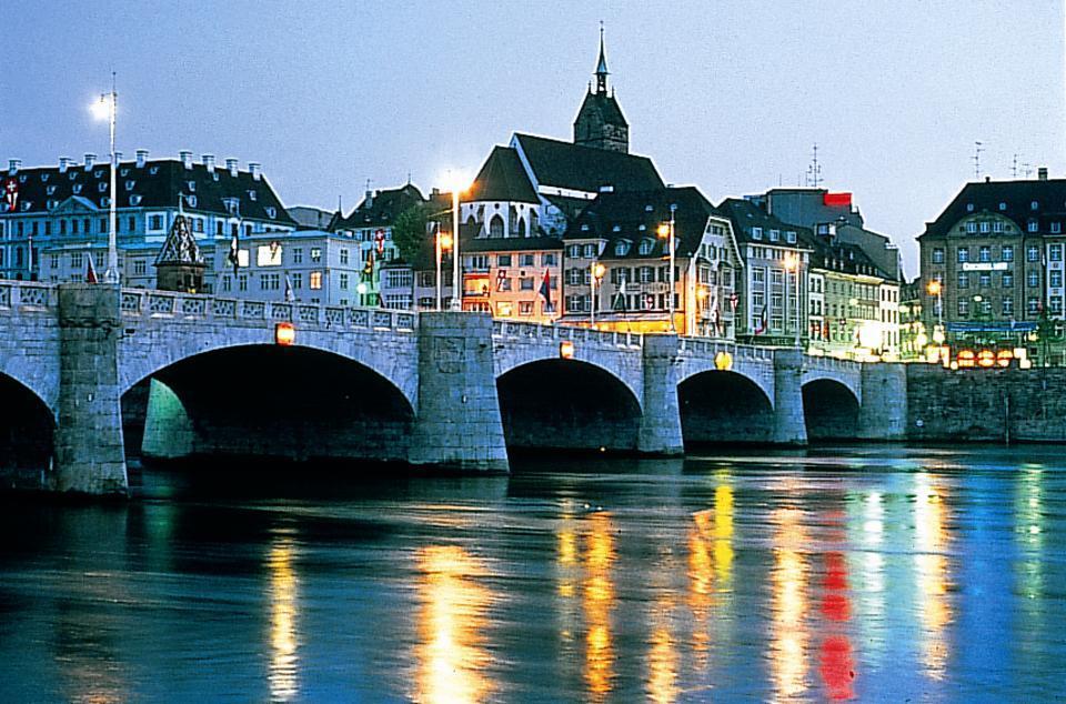 germany france basilea bale night light - ავიაბილეთები ბაზელი